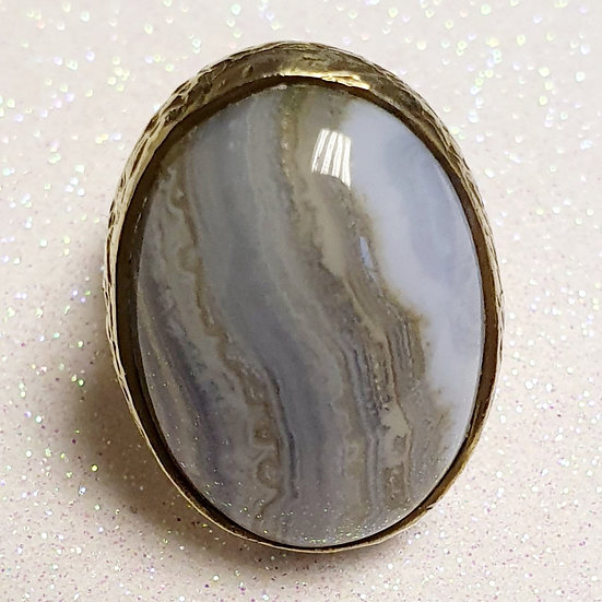 Vintage Blue Agate Ring