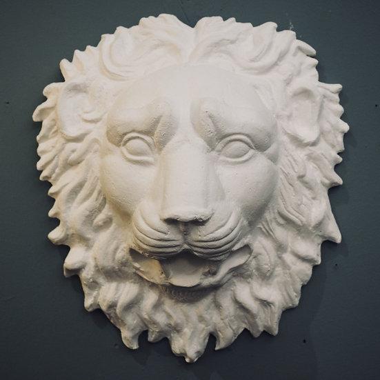 Plaster Lion Mask