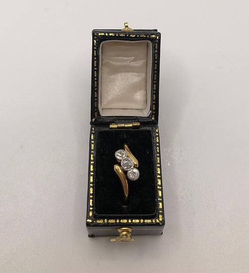 Three Stone Diamond Ring c1910/20