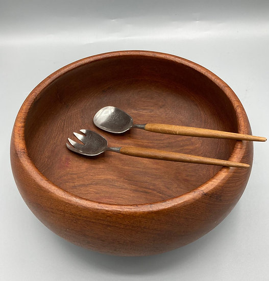 Teak Bowl & Servers