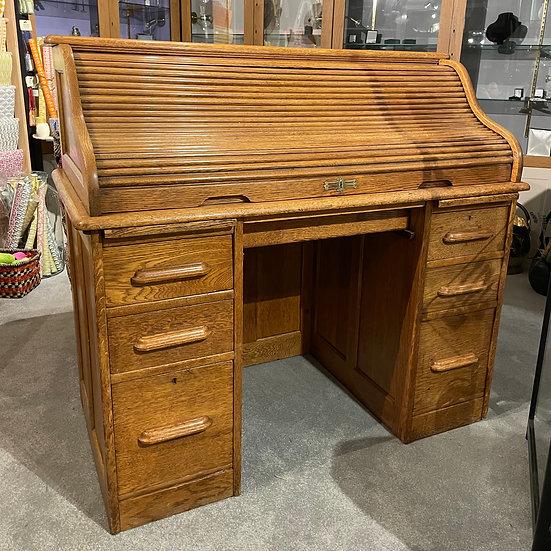 1930's Oak Roll Top Desk