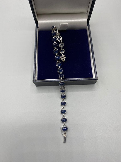 Gold & Cabochon Cut Sapphire Bracelet