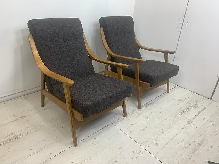 """Pair of 50""""s Chairs"""