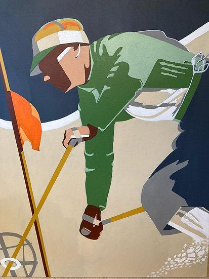 The Downhill - Original Acrylic Painting
