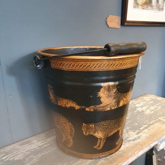 Decoupage Antique Bucket