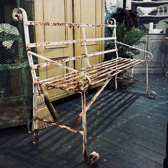 C.19th Strapwork Garden Seat