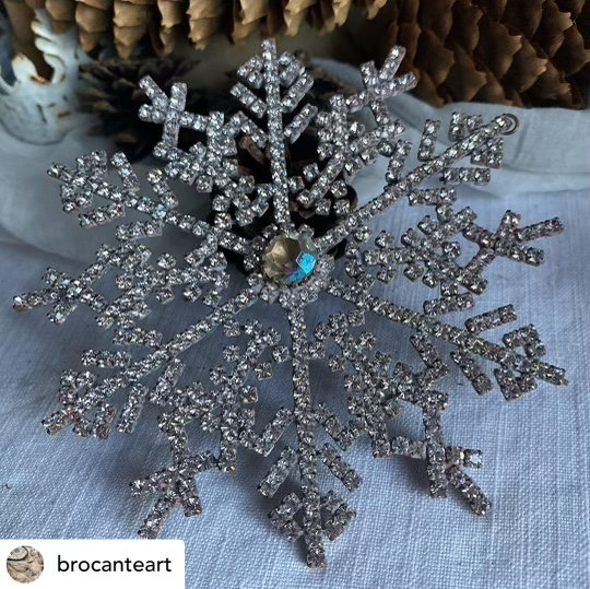 Antique Crystal Snowflake
