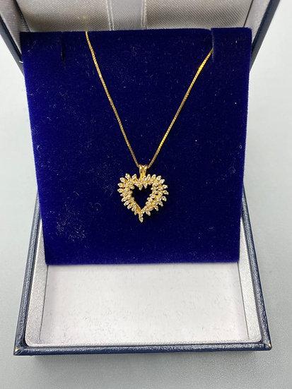9ct Gold & Diamonds Necklace