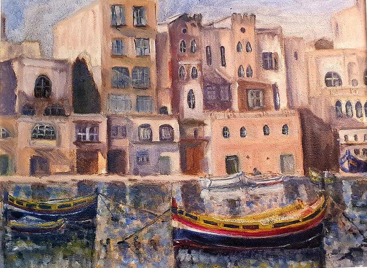 Venice -MidC Oil on Canvas