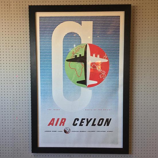 Air Ceylon Travel Poster
