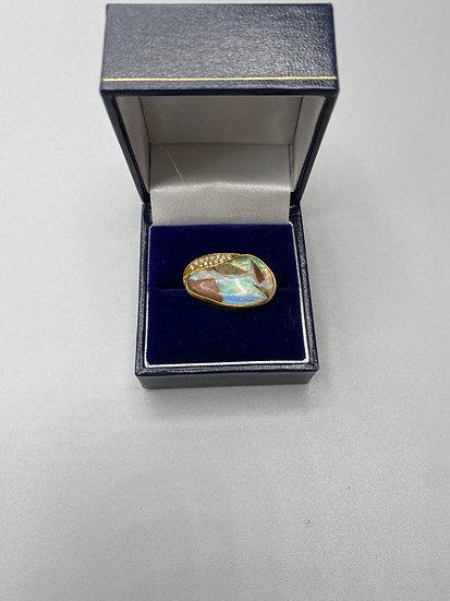 Bespoke Opal & Diamond Brooch