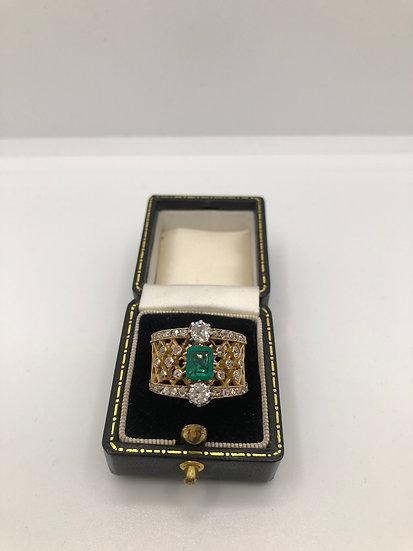 Vintage Emerald & Diamond Ring