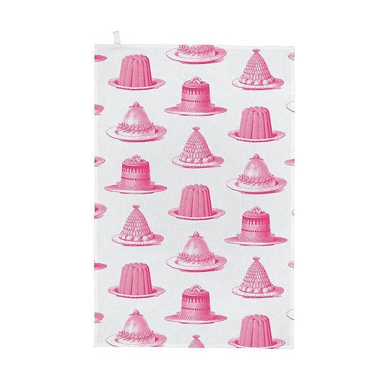 Pink Jelly & Cake Tea Towel
