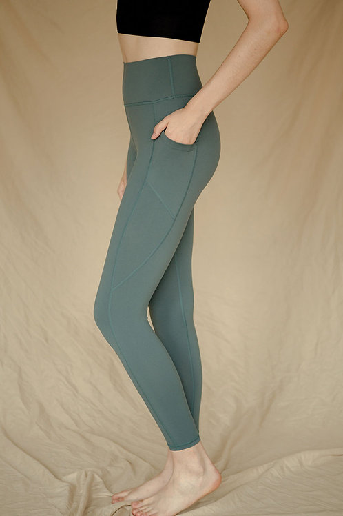 Radiate High-Rise Performance Tights - Sea Moss