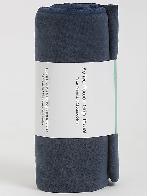 Active Power Grip Yoga Towel - Midnight Blue