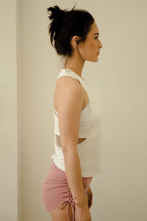 No Sweat Layer Loose Tank - Pure White