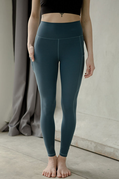 Breathe Easy High Rise Performance Tights - Deep Teal