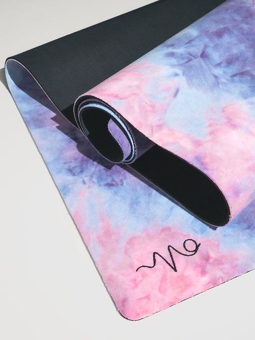 Elite Suede Yoga Mat - Frosted Cotton Candy (Vegan & Travel Friendly)