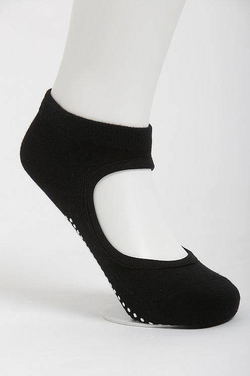 Get a Grip Barre Yoga Socks - Classic Black