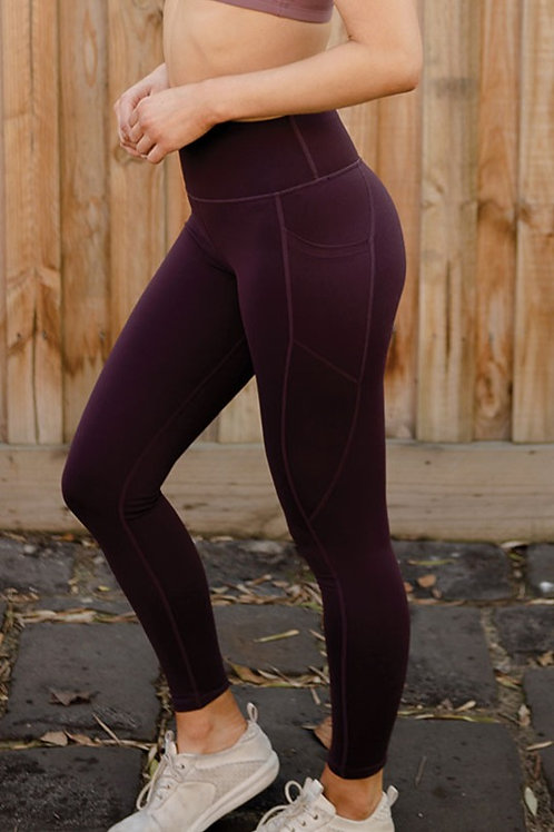 Radiate High-Rise Performance Tights - Plum Perfect
