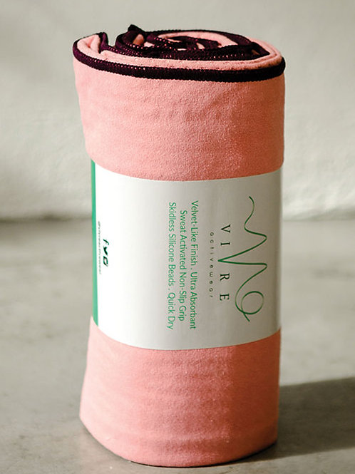 Active Power Grip Yoga Towel - Peach Pink