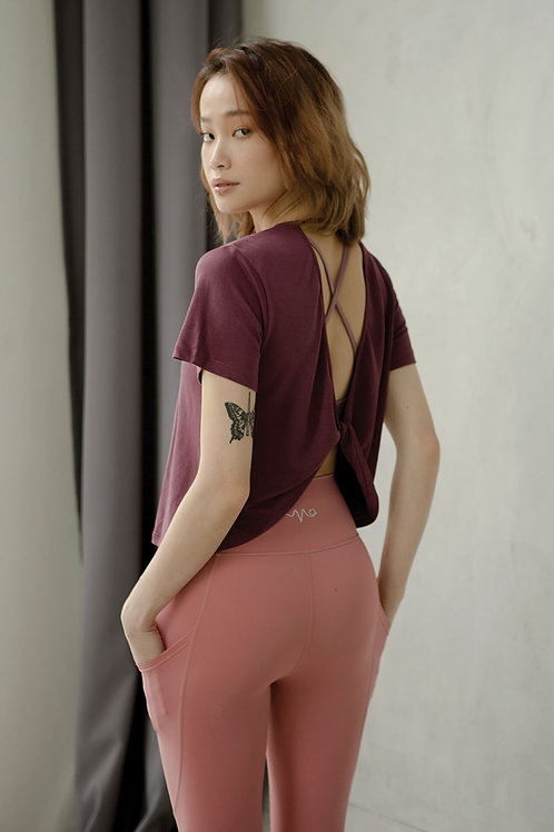 Stretch Out Open Back Tee