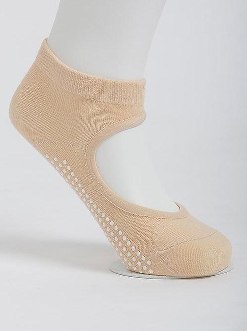 Get a Grip Barre Yoga Socks - Evening Sand