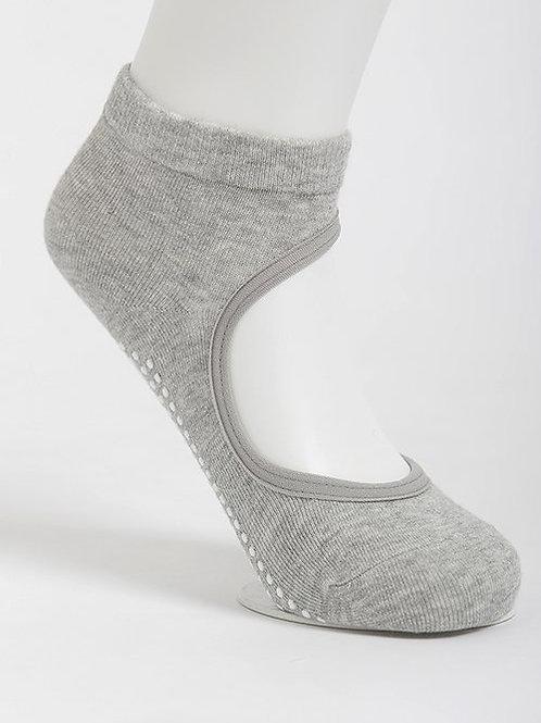 Get a Grip Barre Yoga Socks - Alloy Grey