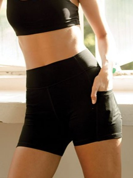Blissed Out Biker Shorts - Classic Black