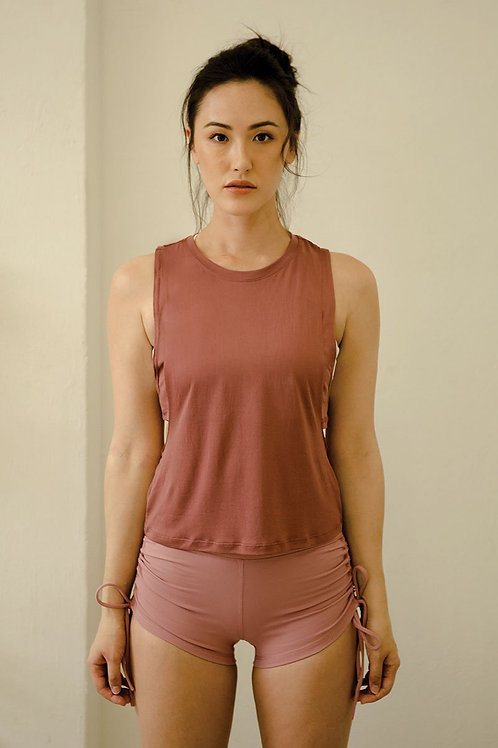 No Sweat Layer Loose Tank - Crushed Berry