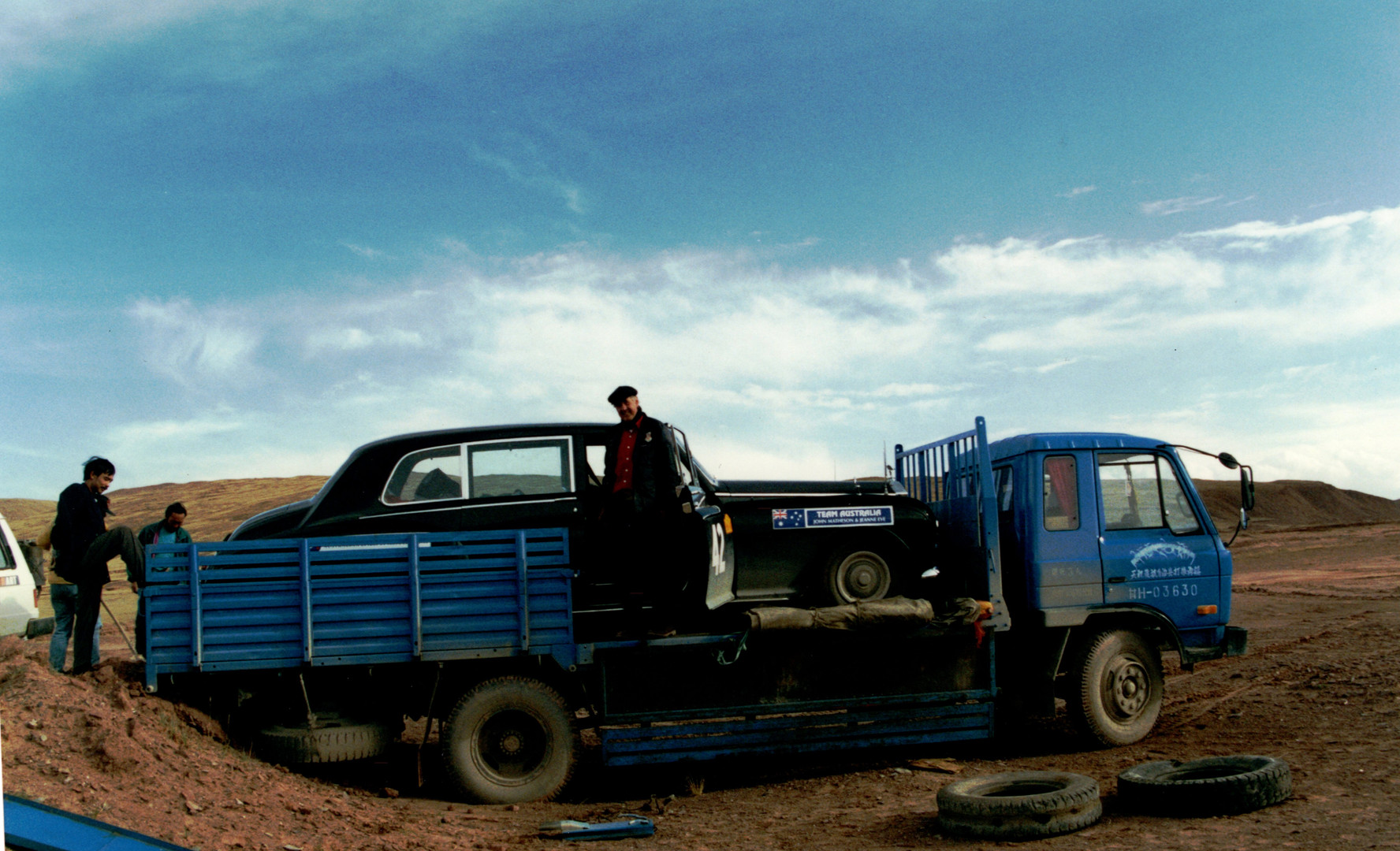 12 P2P back of a truck to Lhasa.