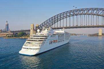Silver Muse under the Sydney Harbour Bridge