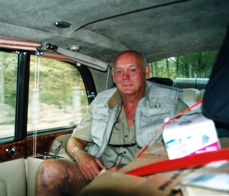 24 P2P Lord Montagu as our passenger in R-R PV.