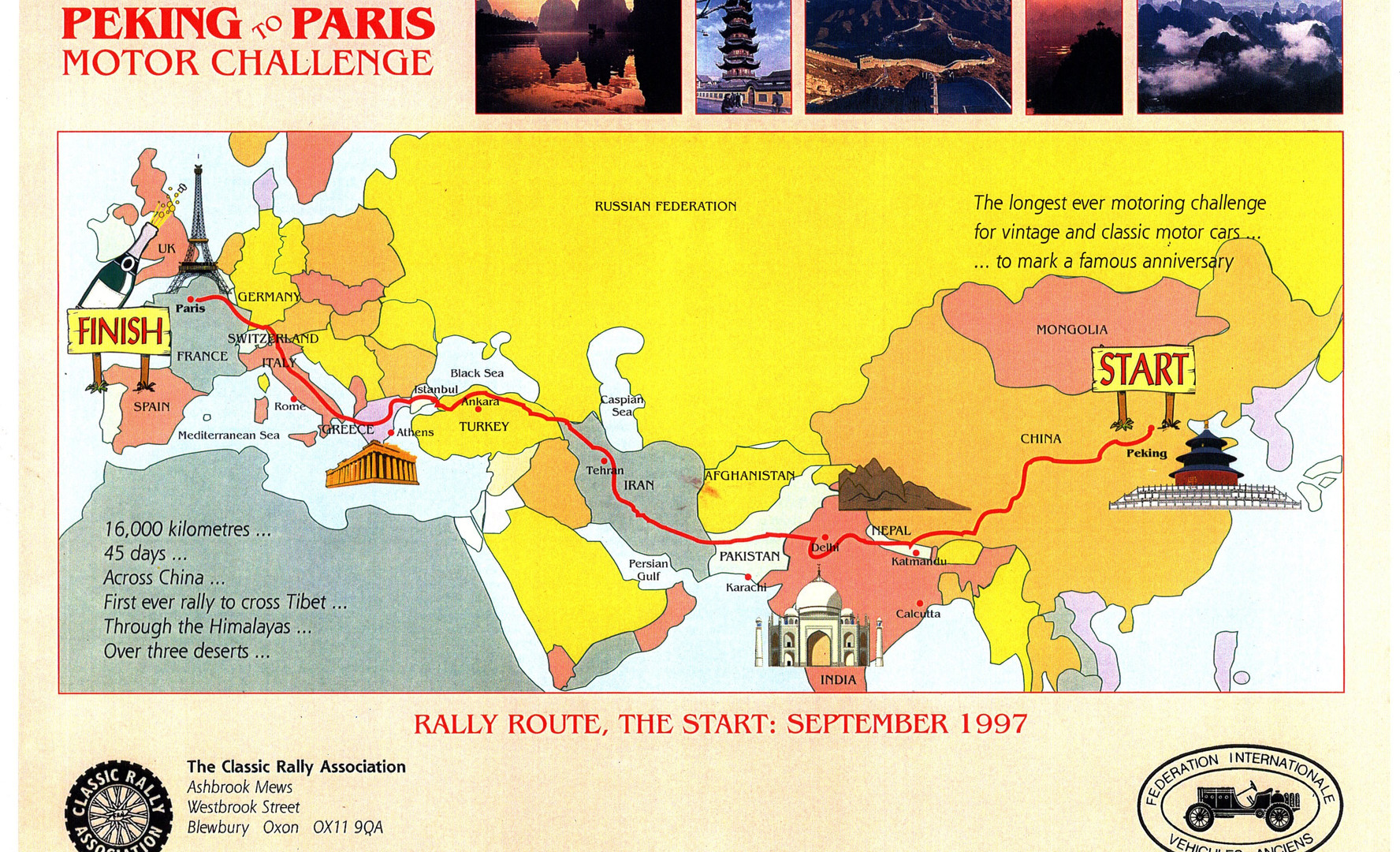 02 Peking to Paris, 1 route - 1997