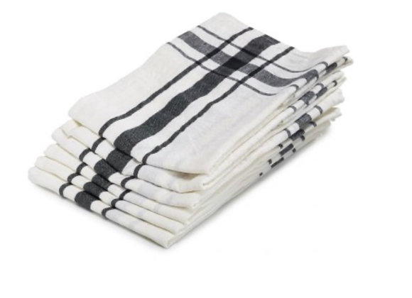 CAMARET TEA-TOWEL BLACK 70 x 70