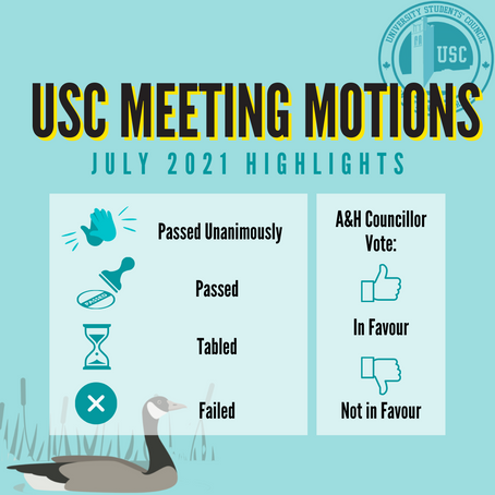 USC Councilor Monthly Updates: July