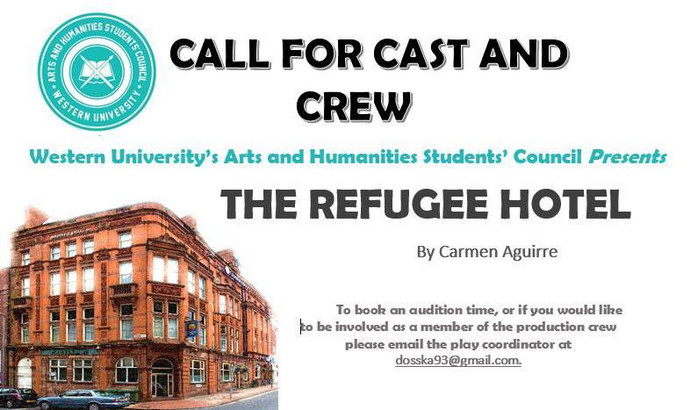 """AUDITIONS: """"THE REFUGEE HOTEL"""""""