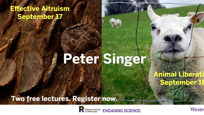 Free Lectures by Peter Singer!