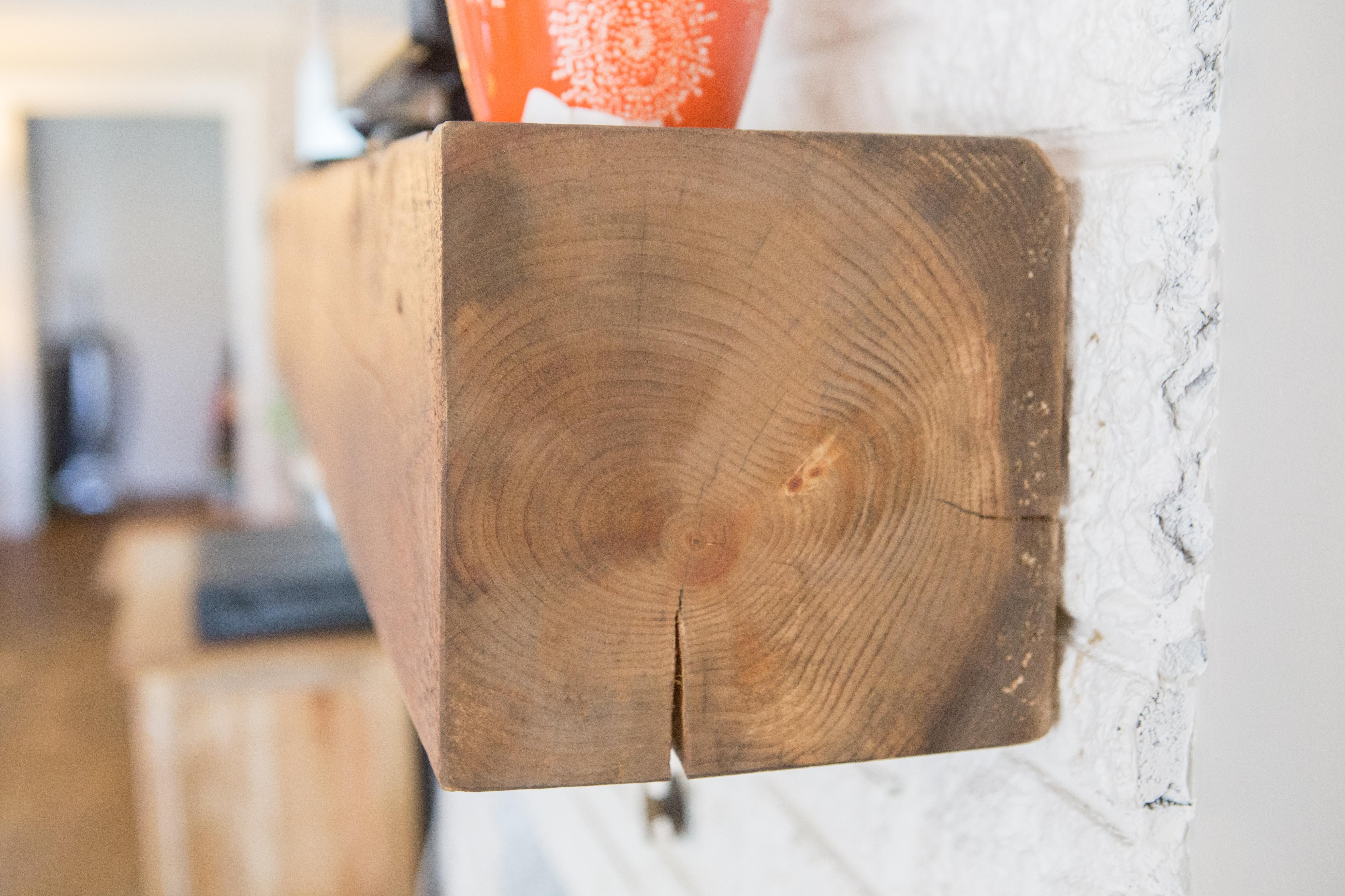 Rough sawn White Pine Mantle