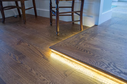 Accent lighting on step-up