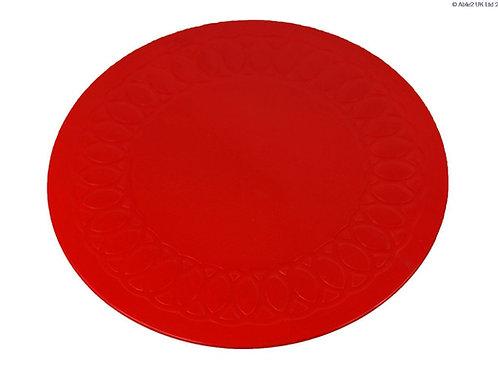 Anti Slip Coaster 19 cm Diameter - Red
