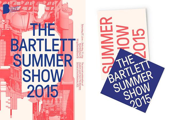 Bartlett Summer Show 2015 Poster by Unlimited Design