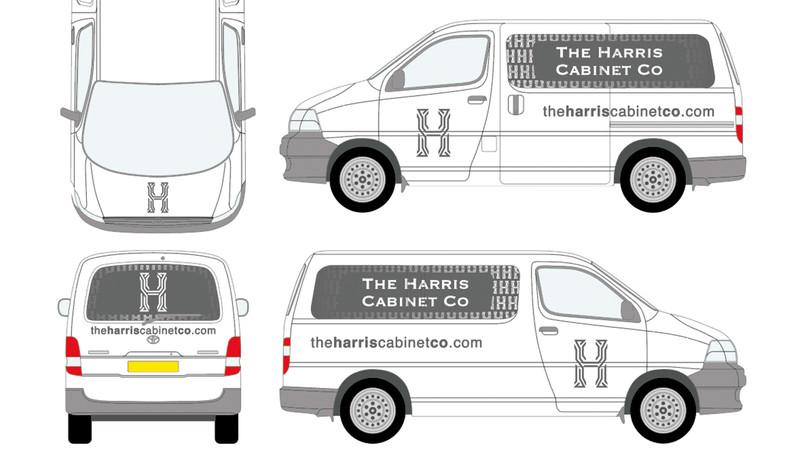 Harris Cabinet Company Vehicle Graphics.