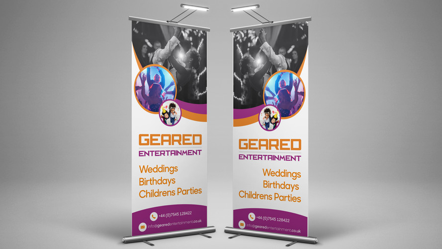Geared banners