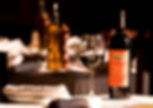 red wine featured in italian restaurant lifestyle photography shoot