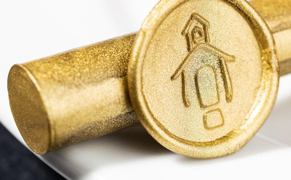 gold metallic wax stick