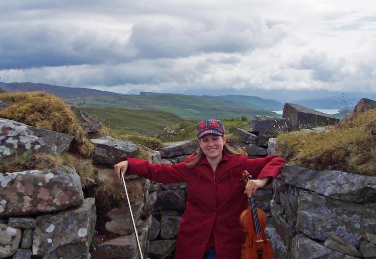 Inside Dùn Beag Broch, Struan, Isle of Skye