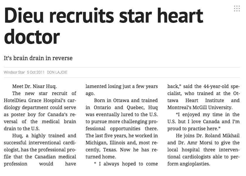 Windsor Star Article