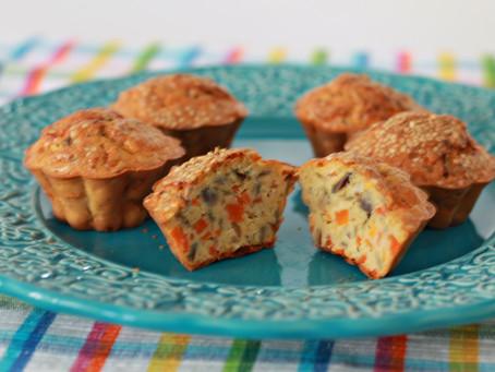 Muffin salgado proteico de legumes