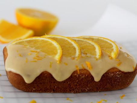 Muffin/bolo de laranja com cereja (sem glúten e sem leite)
